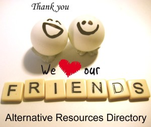 We love our friends thank you alternative resources directory
