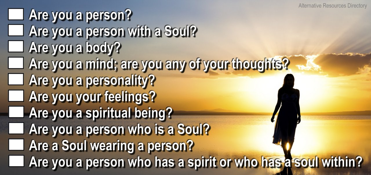 Spirituality Questionaire check all that apply
